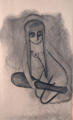 The Horsewoman, 175x105cm