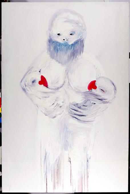 La Diosa Blanca. 150x100cm. Oleo sobre lienzo.