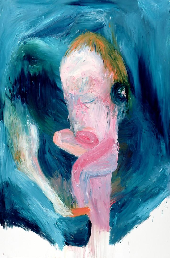 La picadura del cisne.                                    Oleo sobre lienzo. 150x100cm