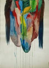 Cabeza de India Watercolour on paper 106x78cms.