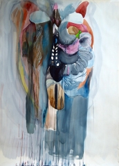Interior del torso Watercolour on paper 160x112cms