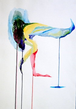 Pájaro Andante Watercolour on paper50x70cms