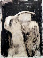 A couple Oil on wood. 35x26cms.