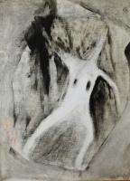 Couple on Clay Oil on wood. 35x26cms.